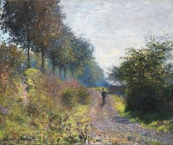 Claude Monet  Il sentiero riparato, 1873, olio su tela, 54.1 x 65.7 cm Philadelphia Museum of Art, Donazione di Mr. and Mrs. Hughs Norment in onore di William H. Donner, 1972