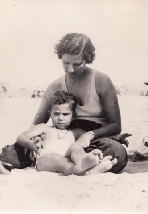 Roth e la mamma nel 1935