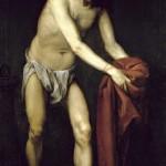 Alonso Cano Cristo raccoglie i vestiti