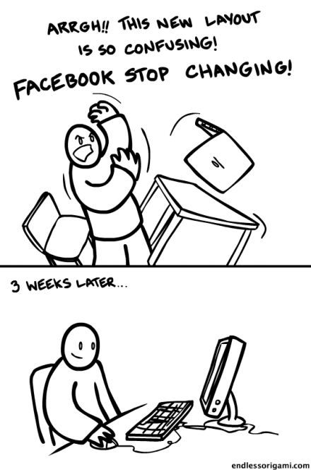 Stop changing Facebook (c) endlessorigami.com