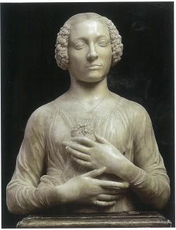 Andrea del Verrocchio. Fioretta Gorini C. 1475. Bargello Museum, Florence.
