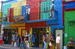 Uno scorcio della Boca, il quartiere genovese di Buenos Aires