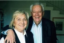 Giampaolo Pansa (1935-2020) con Adele Grisendi