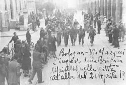 Ingresso della Brigata Maiella a Bologna