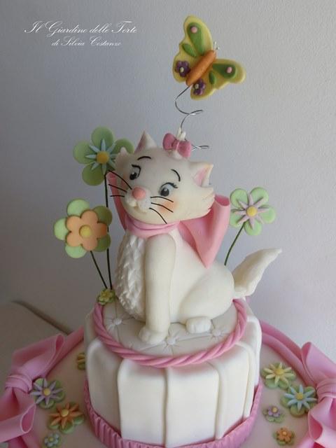 Torta Effetto Trapunta Tutorial.Topper Minou Gattina Degli Aristogatti Tutorial Cake