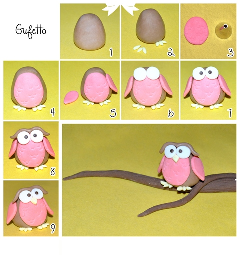 Modellate con la pasta di zucchero beige una forma a uovo 6227e12d632b