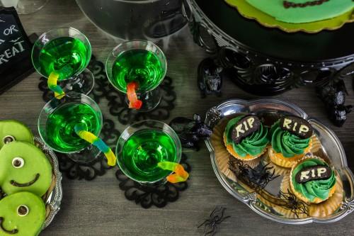 Halloween in verde