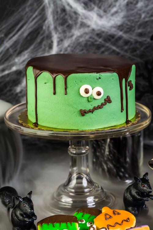 torta-frankestein-halloween-verde