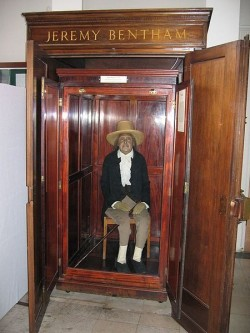 L'auto-icona di Jeremy Bentham, conservato all'University College di Londra