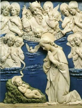 Luca della Robbia MADONNA COL BAMBINO.jpg