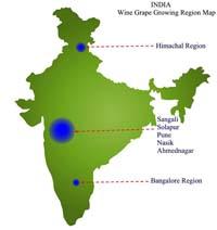 Regioni vitivinicole dell'India