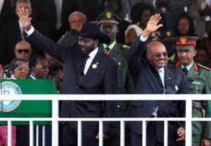 Kiir e Bashir sul palco a.jpg